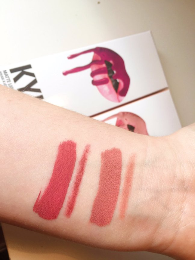 kylie swatches