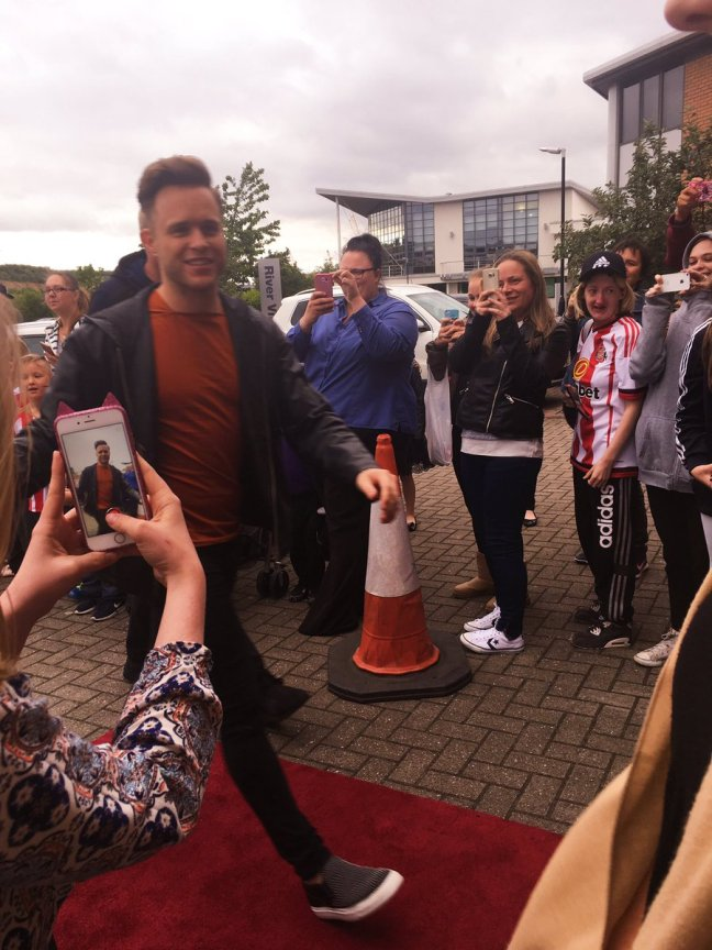 olly arriving